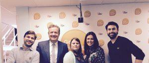 ITV Good Morning Britain mit Susanna Reid, Piers Morgan, Natascha Kampusch und dem Dachbuch Verlag